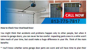 How to Check Your Overhead Door in Lake Magdalene - Click here to download